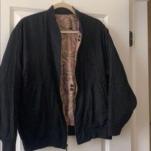 Jackets & Blazers - Black reversible bomber jacket